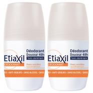 Etiaxil Déodorant Douceur 48H Sans Sels d' Aluminium Roll-On 2 x 50 ml