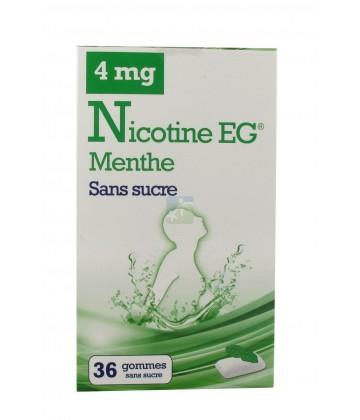 EG Nicotine Menthe Gommes Sans Sucre 4 mg x 36