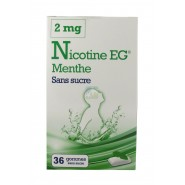 EG Nicotine Menthe Gommes Sans sucre 2 mg x 36