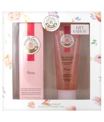 Roger & Gallet Coffret Eau Bienfaisante Parfumée Rose 30 ml + Gel Douche 50 ml Offert
