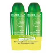 Bioderma Nodé Shampoing Fluide Non Détergent 2 x 400 ml