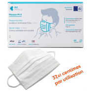 Masques-barrière lavables cinq fois x 20