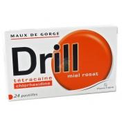 Drill Pastilles Miel Rosat x 24