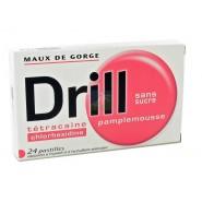 Drill Pastilles Sans Sucre Pamplemousse x 24