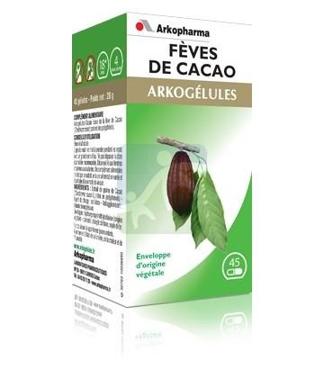 Arkopharma Arkogélules Fèves De Cacao 45 Gélules Végétales