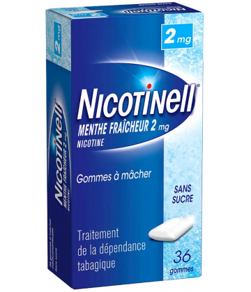 Nicotinell Menthe Fraîcheur 2 mg Gommes à Mâcher Sans Sucre x 36
