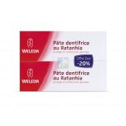 Weleda Pâte Dentifrice au Ratanhia 2 x 75 ml