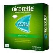 Nicorette 2 mg Menthe Fraîche Sans Sucre x 210