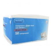 Alvita Compresses Non-Tissées Non Stériles 10 cm x 10 cm  x 50