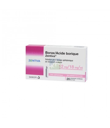 Borax/Acide borique Zentiva 12mg/18mg/ml