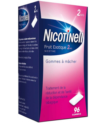 Nicotinell fruits exotiques 2 mg x 96