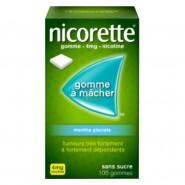 Nicorette 4 mg menthe glaciale sans sucre x 105