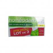 Homeodent Dentifrice Dents et Gencives Citron Lot de 2 x 75 ml
