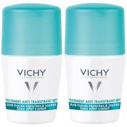 Vichy Déodorant Anti-Transpirant Anti-traces 48h Bille 2 x 50 ml