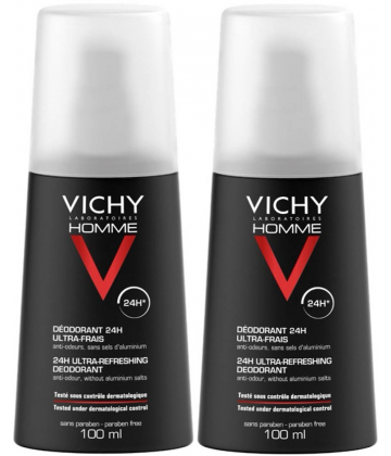 Vichy Homme Déodorant Ultra-frais 2 x 100 ml