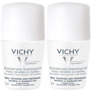 Vichy Déodorant Anti-transpirant Bille Peau Sensible 2 x 50 ml