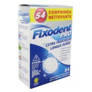 Fixodent Pro Comprimés Nettoyants Extra Fraîcheur Longue Durée x 54