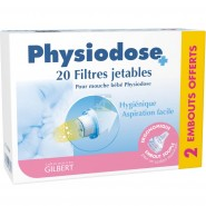 Gilbert Physiodose Filtres Jetables x 20 + 2 offerts